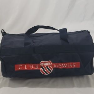 Vintage K-Swiss Navy Logo Travel Duffle Bag